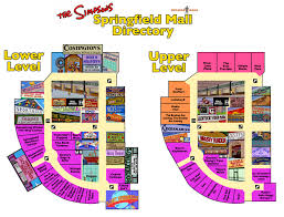 Springfield Map The Simpsons Springfield Mall Directory U2013 Pleated Jeans