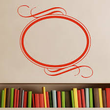 oval frame art deco wall sticker world of wall stickers