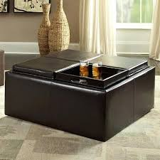 Coffee Table Ottoman Combination Lovely Coffee Table With Ottoman Leather Cool Coffee Ottoman