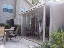 Clear Vinyl Roll Up Blinds Outdoor by Drop Curtains U0026 Solar Screens