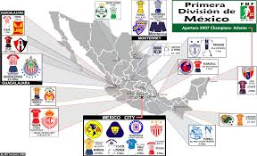 Mexican State Map by