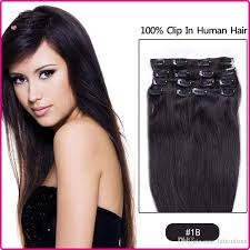 human hair clip in extensions 7a 15 24inch clip in human hair extension human hair set