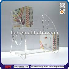 tsd a108 new shape two tier clear acrylic book display stands