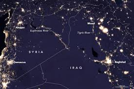middle east map changes lights change in the middle east image of the day