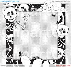 Halloween Skeleton Pattern by Halloween Border No Background U2013 Festival Collections