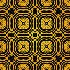 deco wrapping paper vector geometric deco pattern with gold shapes on black