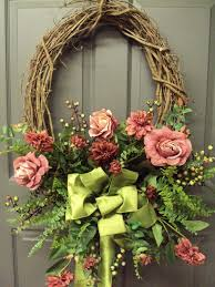 spring door wreaths front door wreaths with initials and front door wreaths etsy