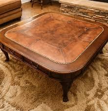 Henredon Coffee Table by Henredon Leather Top Coffee Table Ebth