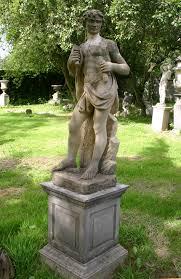 sculptor antiqued garden statue