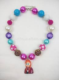 childrens necklace elsa toddler chunky beaded necklace bubblegum necklace blue