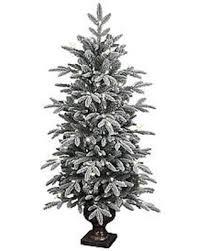 deal on ge 4 5 ft pre lit aspen fir flocked artificial