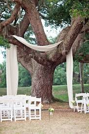 ceremony under the trees decor ideas wedding ceremony decor