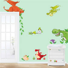 Aliexpresscom  Buy Dinosaur Wall Art Home Decorations Animal - Animal wall stickers for kids rooms