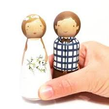 custom peg doll wedding cake topper set 3 1 2 peg by pegandplum
