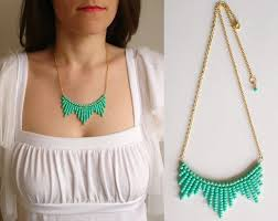 diy necklace bead images Diy jewelry seed bead turquoise chevron necklace lovely jpg