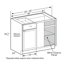 what is a blind corner kitchen cabinet home decorators collection brookfield assembled 42x34 5x24