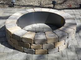 build a backyard fire pit tips build a fire pit kit circular stone fire pit pavestone