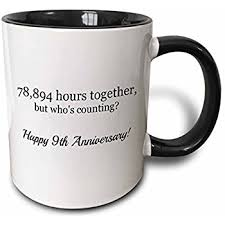 9th wedding anniversary gift 3drose happy 9th anniversary 78894 hours together