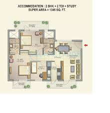 2 bhk 1345 sq ft apartment for sale in corona optus at rs