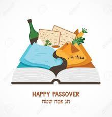 passover book haggadah abstract passover story haggadah book traditional food and