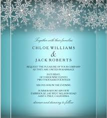 15 winter wedding invitation templates free sle exle