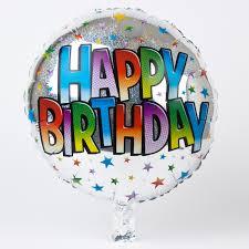 birthday helium balloons silver happy birthday foil helium balloon