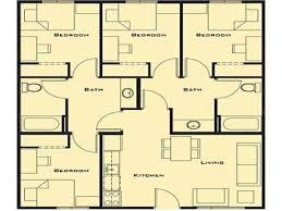 Floor Plans For A 4 Bedroom House 4 Bedroom House Plans Nrtradiant Com
