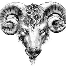 black tribal aries zodiac sign tattoo on left half sleeve by