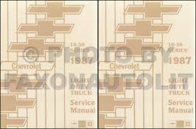 1987 chevrolet pickup van motorhome fuel u0026 emissions manual original