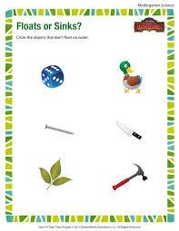 floats or sinks worksheet u2013 free kindergarten science printables