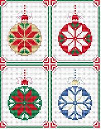 set of 4 cards free cross stitch pattern