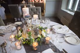 grey table runner wedding gray and white table linens hair nails makeup pinterest