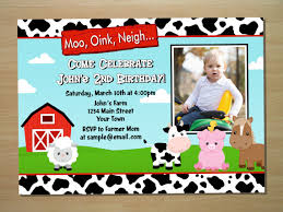 bridal shower invitation cards barnyard birthday invitations