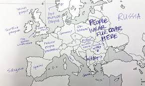 blank europe map with country names americans were asked to place european countries on a map here s