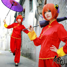 Chinese Halloween Costume Japanese Anime Gintama Cosplay Costume Yorozuya Yato Kagura