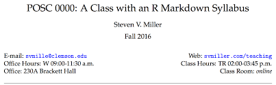 automatically do just about everything in your syllabus with r