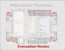 Evacuation Floor Plan Evacuation Routes University Of North Texas Libraries