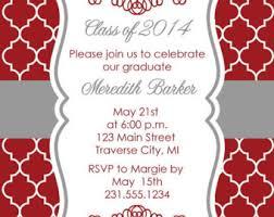 high school graduation party invitations graduation party invitations printable damask grad
