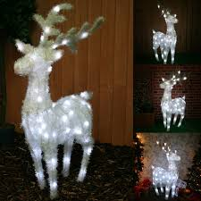 large pre lit reindeer decoration illuminated with 63