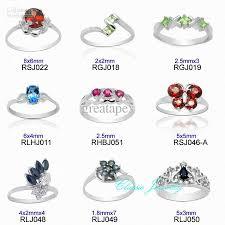 natural gemstones rings images 2018 100 real 925 sterling silver natural gemstone ring mixed jpg