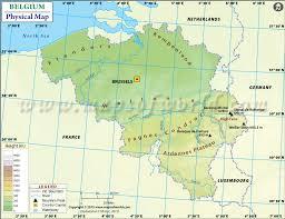 map of belgium belgium physical map physical map of belgium