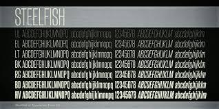 dafont freshman steelfish font dafont com