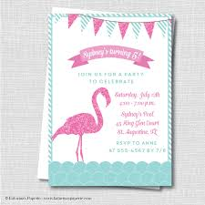 pool party invitations free flamingo birthday invitation flamingo themed party invite