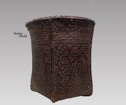 Indonesia Home Decor Vintage Grain Basket From Borneo Dayak Naga Pinoh Indonesia