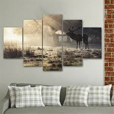 elk home decor 5pcs elk modern art paintings canvas print wall unframed pictures