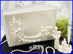 guest book and pen set cinderella and prince charming fairy tale theme wedding guest book