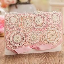 2016 wedding invitations pink color flower laser cut wedding