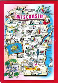 wisconsin map usa wisconsin map remembering letters and postcards