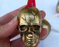 skull ornaments etsy