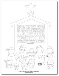100 ideas christmas coloring pages nativity free printable